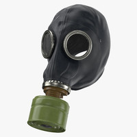 3d model gas mask worn