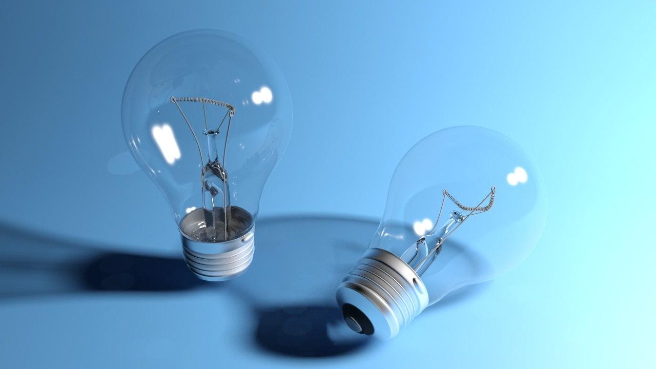 3d bulb 60w light model