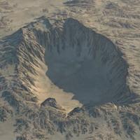 crater realistic 3d model