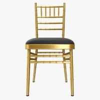 3d realistic tiffany chair model