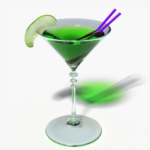 appletini cocktail 3d model