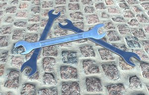 construction wrench pbr 3d x