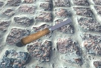 3d construction chisel pbr