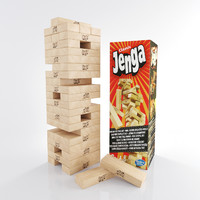 3d jenga wooden bars