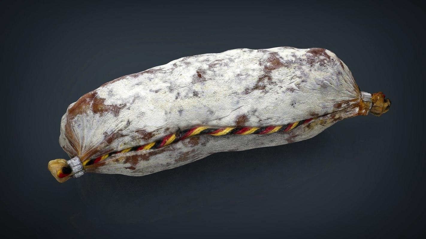 3d model sausage salami