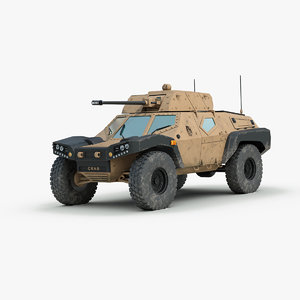 panhard crab scout car 3d 3ds