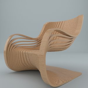 pipo chair 3d 3ds