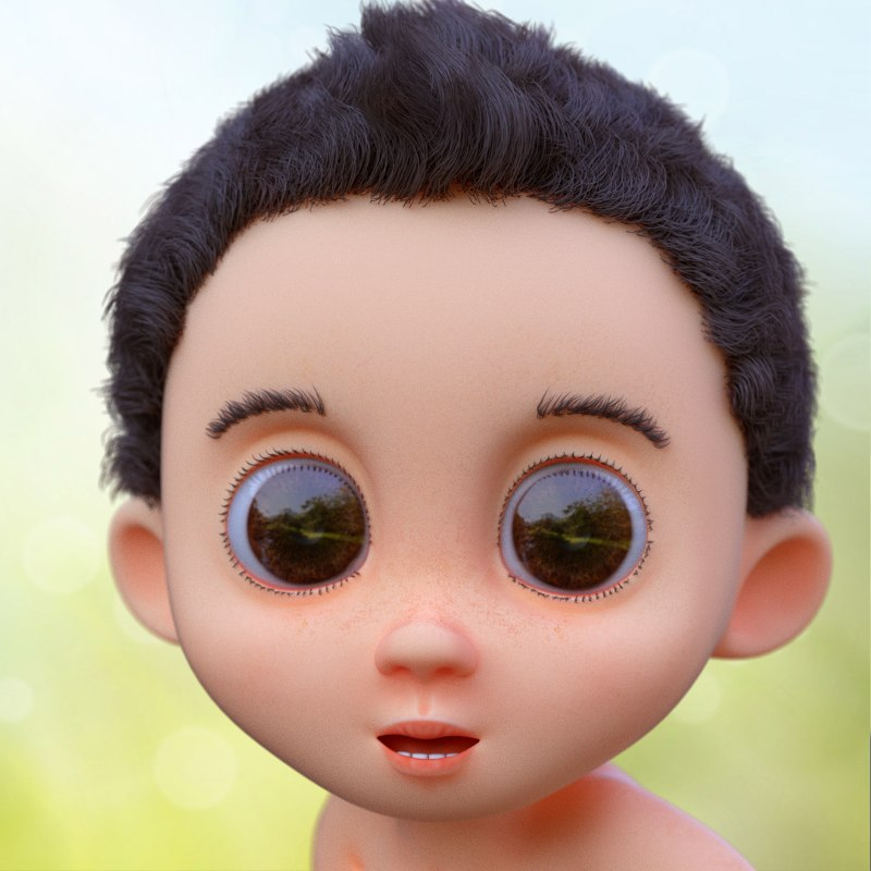 cute baby rig character blend