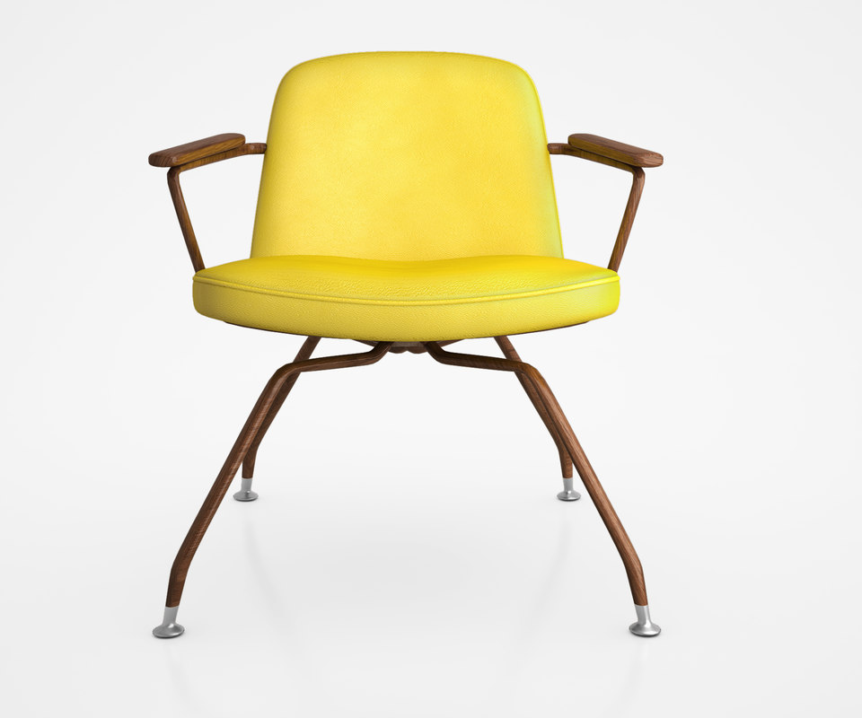 mid-century spider chair 3d max