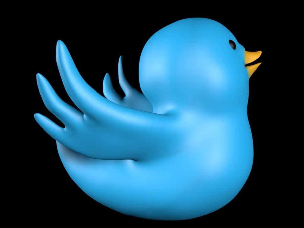 3d twitter bird model