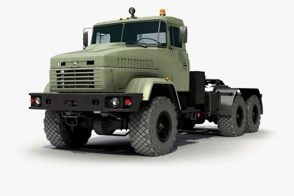 truck kraz 3d x