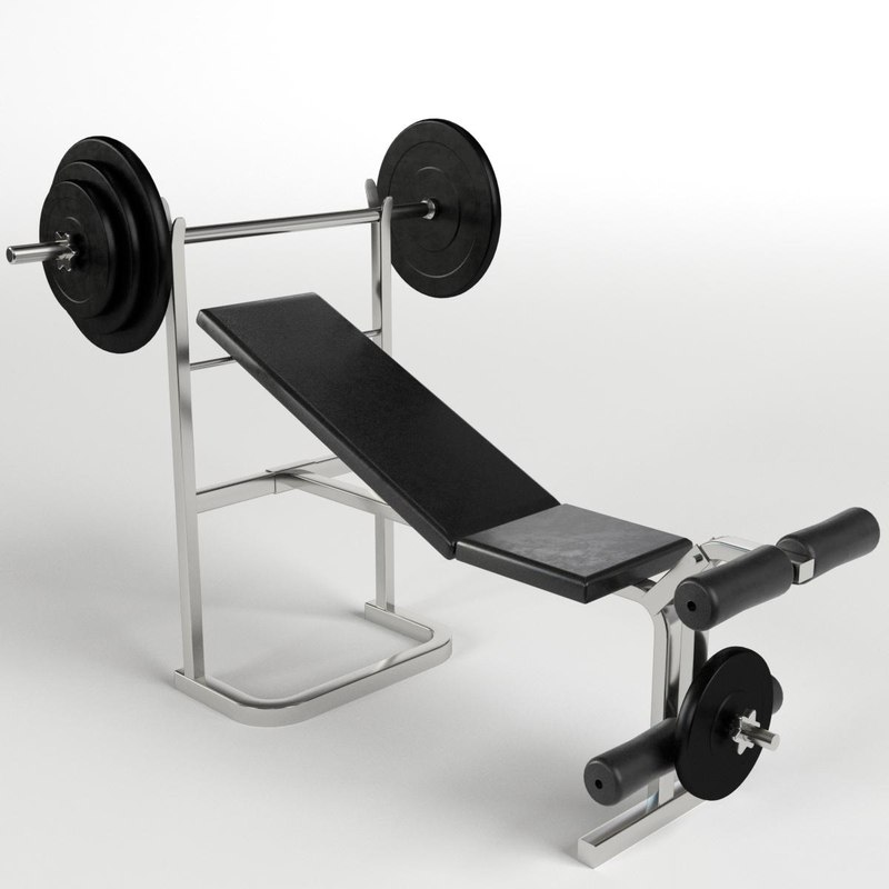 bench weight gym 3d model