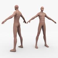 human male man 3d 3ds