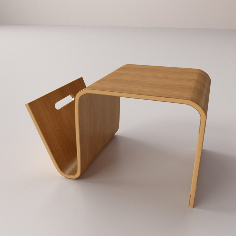 3d magazine table model