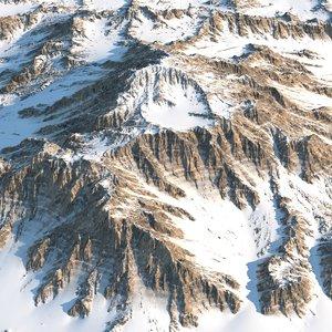 mountain realistic obj