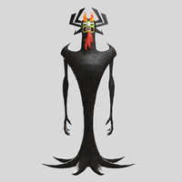 3d model of aku - remake