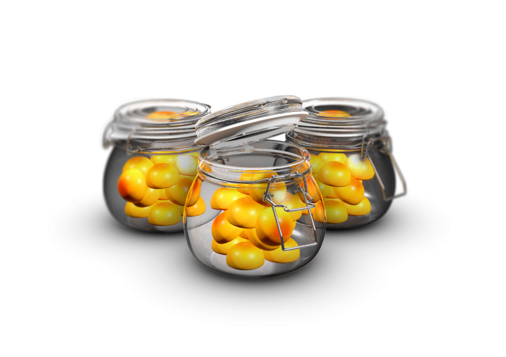 3d model of food jar