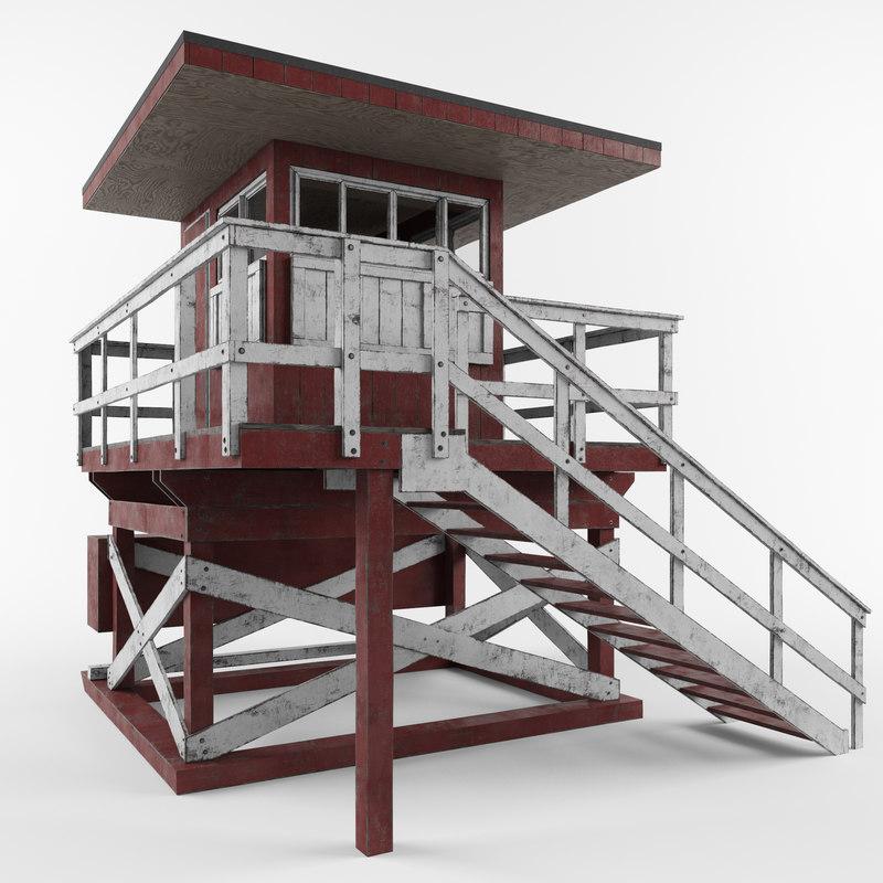 3d lifeguard stand