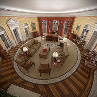 white house oval office architecture 3d max