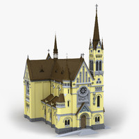 3d church cathedral model