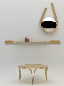bar gantz furniture 3d 3ds