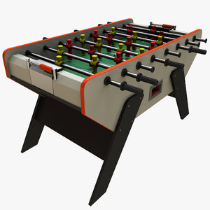realistic foosball table 3d max