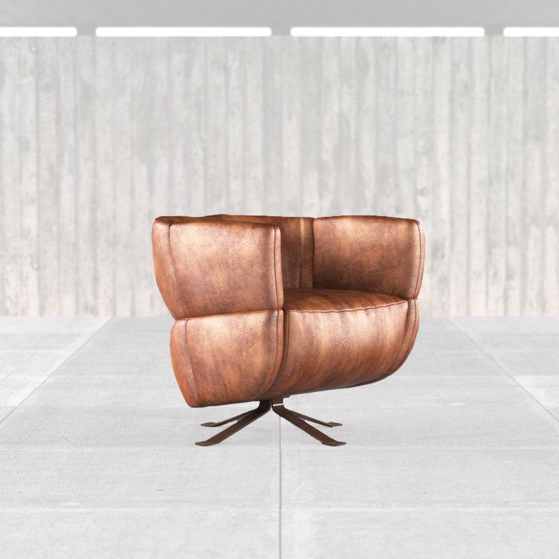 chair design estudio bola 3d model