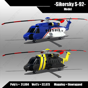 3d sikorsky s-92