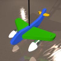 3d model of plane lamp