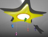 star lamp 3d max