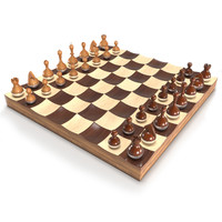 3d modeled wobble chess set model