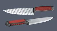 3d model kitchen knife