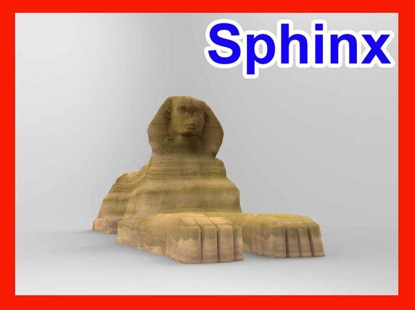 3d great sphinx