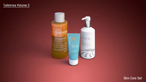 3d set bathroom shampoo model