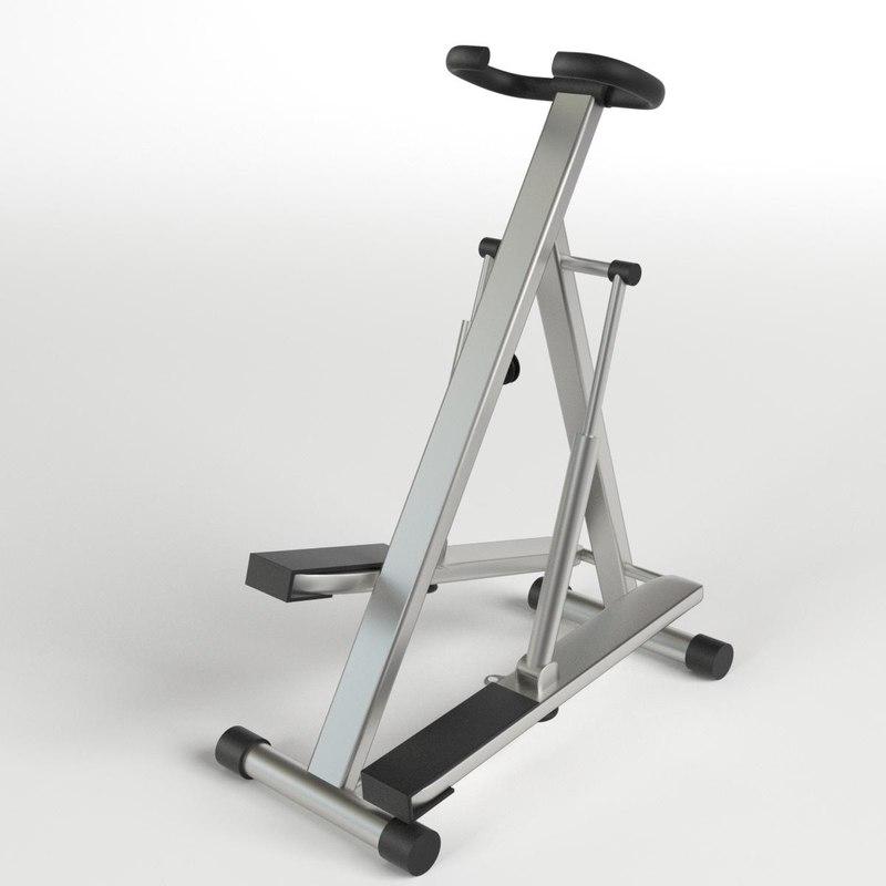 3d model step glute machine gym