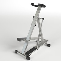 3d model step glute machine gym