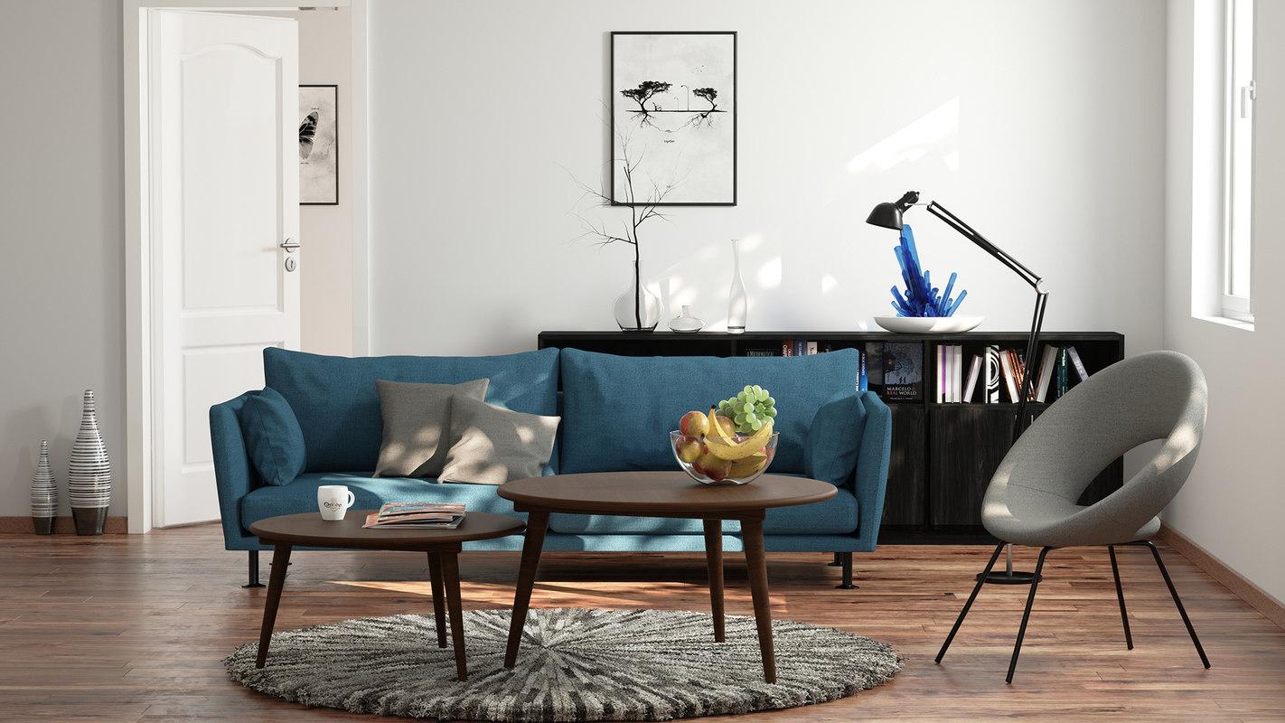 render scene living room