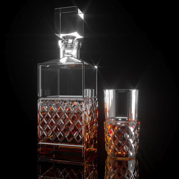3d decanter glass