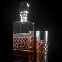 3d decanter glass