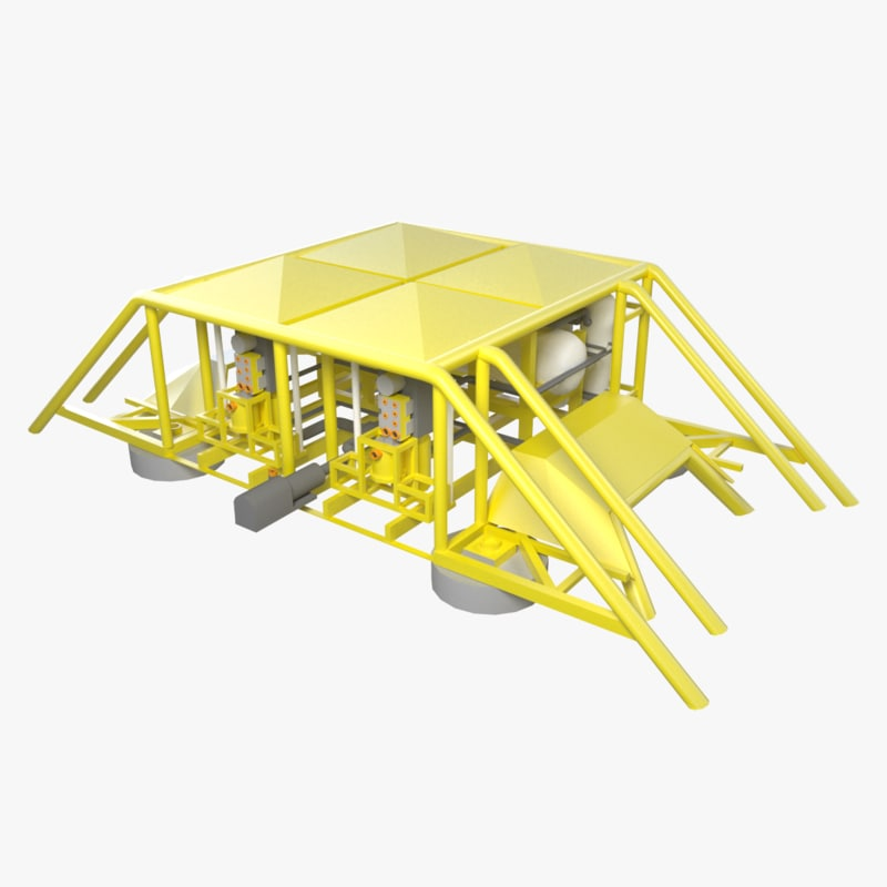 subsea separation station 3d model
