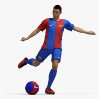 realistical football player rig 3d obj