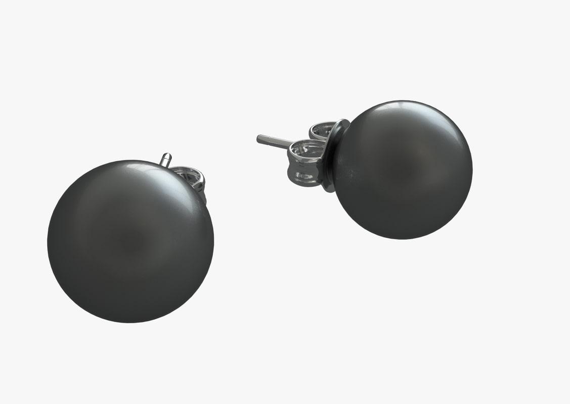3d baumell pearl earings