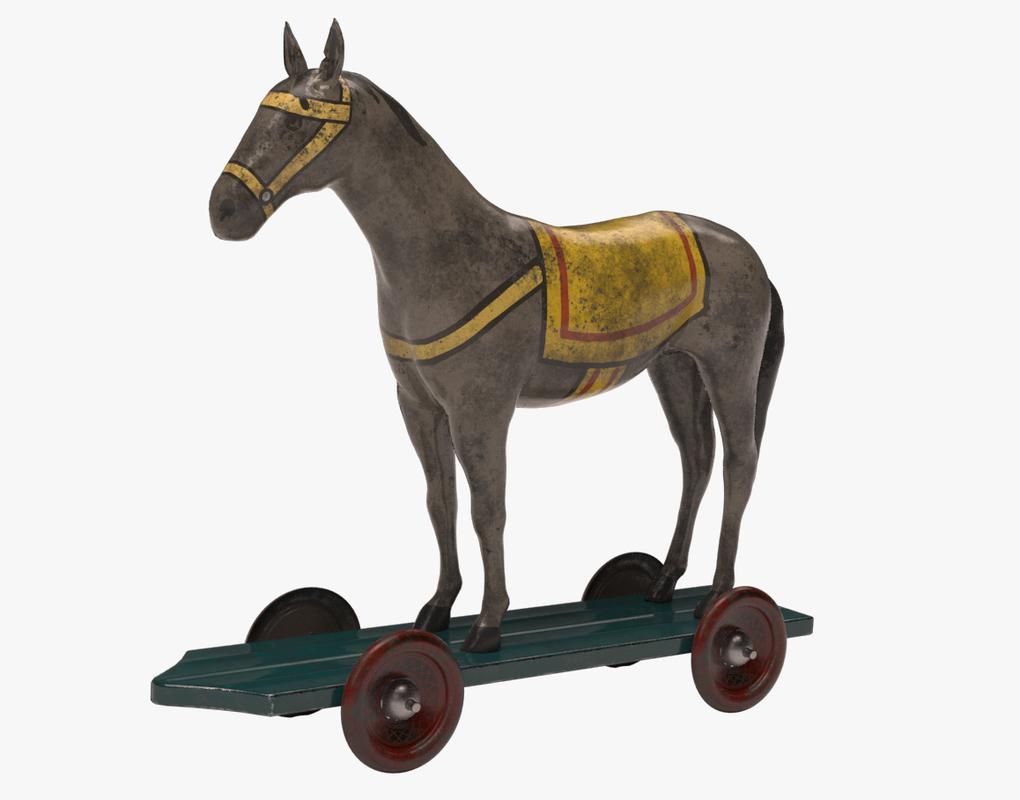 toy horse 3d model