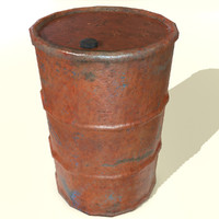 rust barrel 3d max