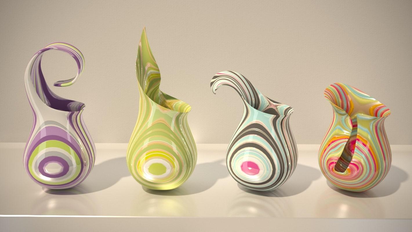glass vases 3d max
