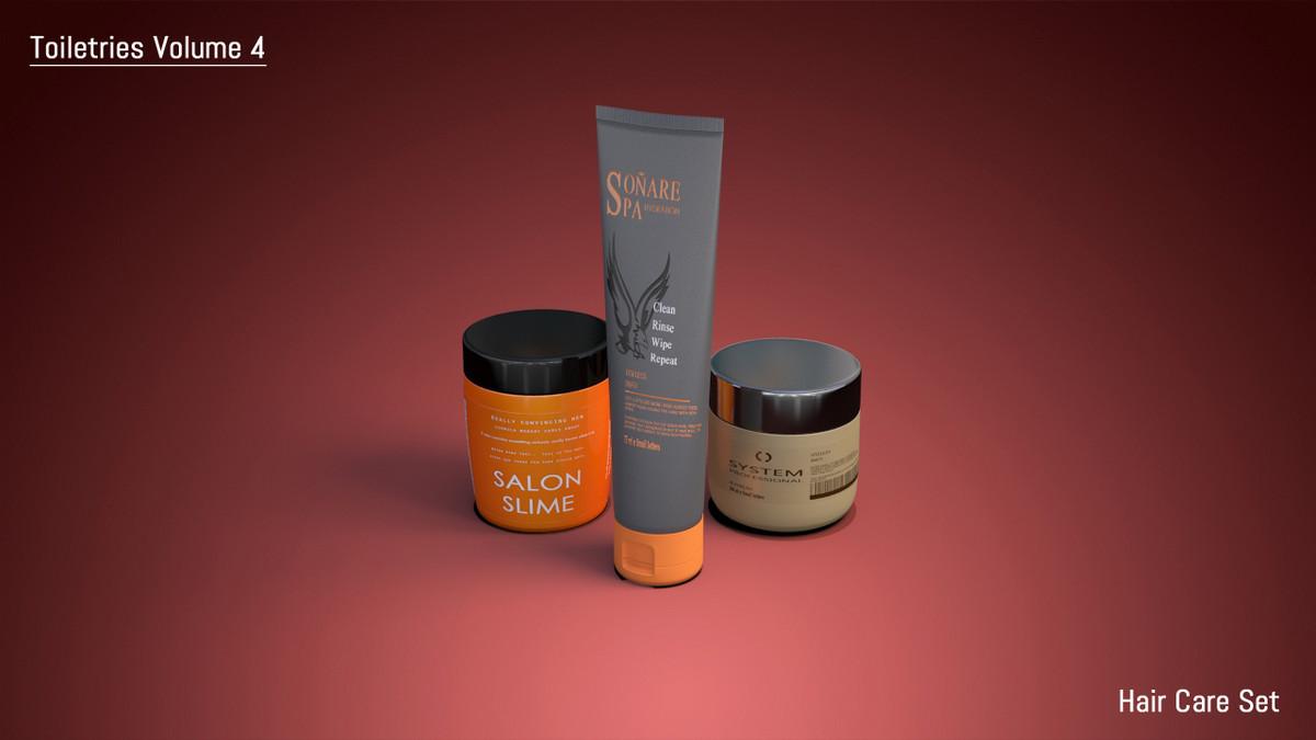 3d model of hair care set