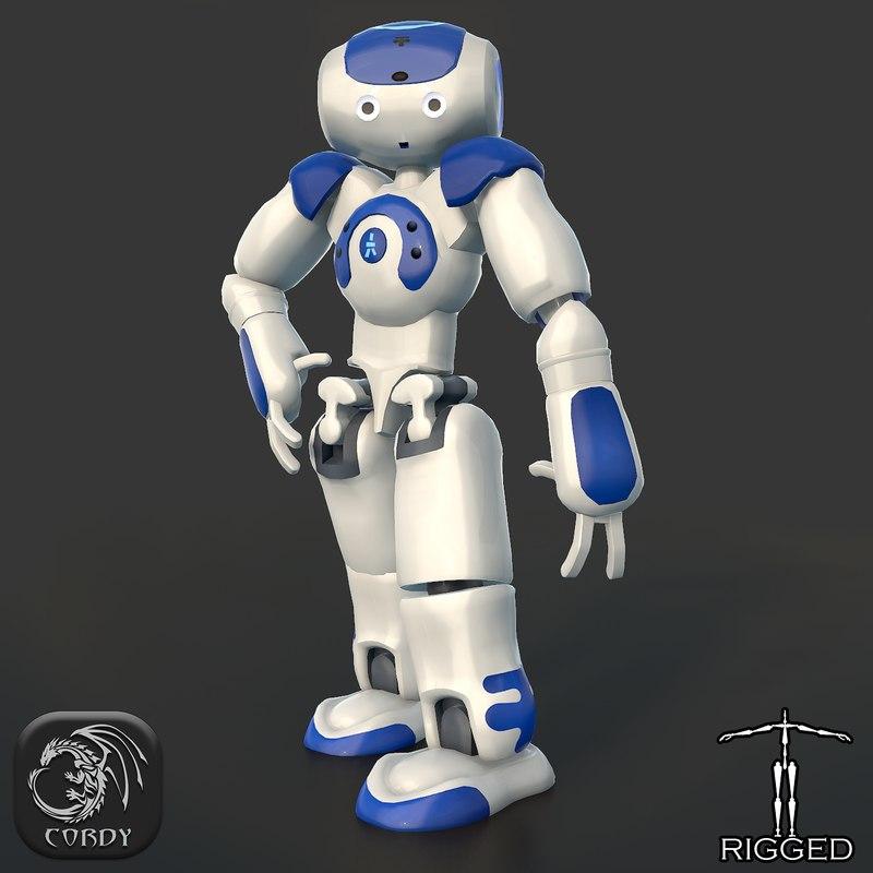 rigged robot nao 3d 3ds