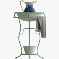 vintage washstand jug basin 3d max