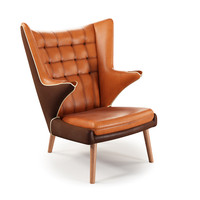 wegner papa bear chair 3d model