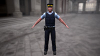 3d obj royal police officer